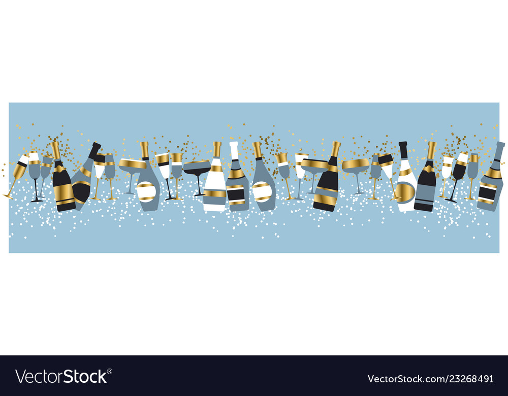 Champagne bottles and glasses color
