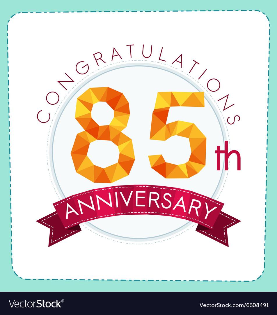 Colorful polygonal anniversary logo 3 085