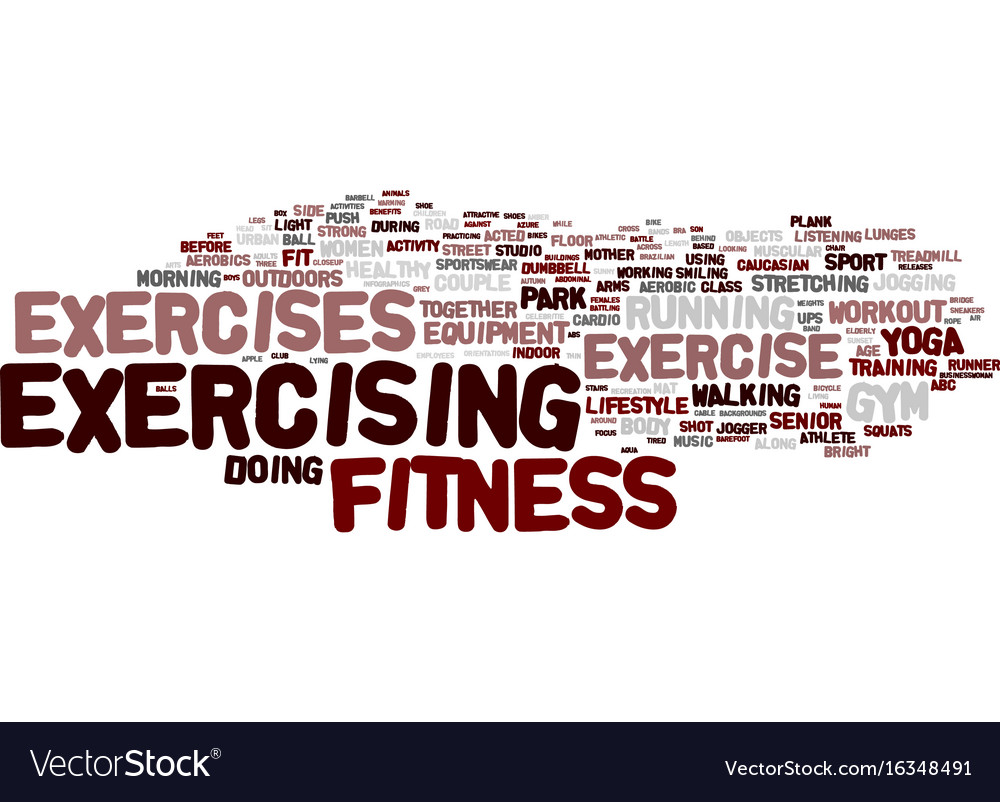 Exercises Word Cloud Concept Royalty Free Vector Image