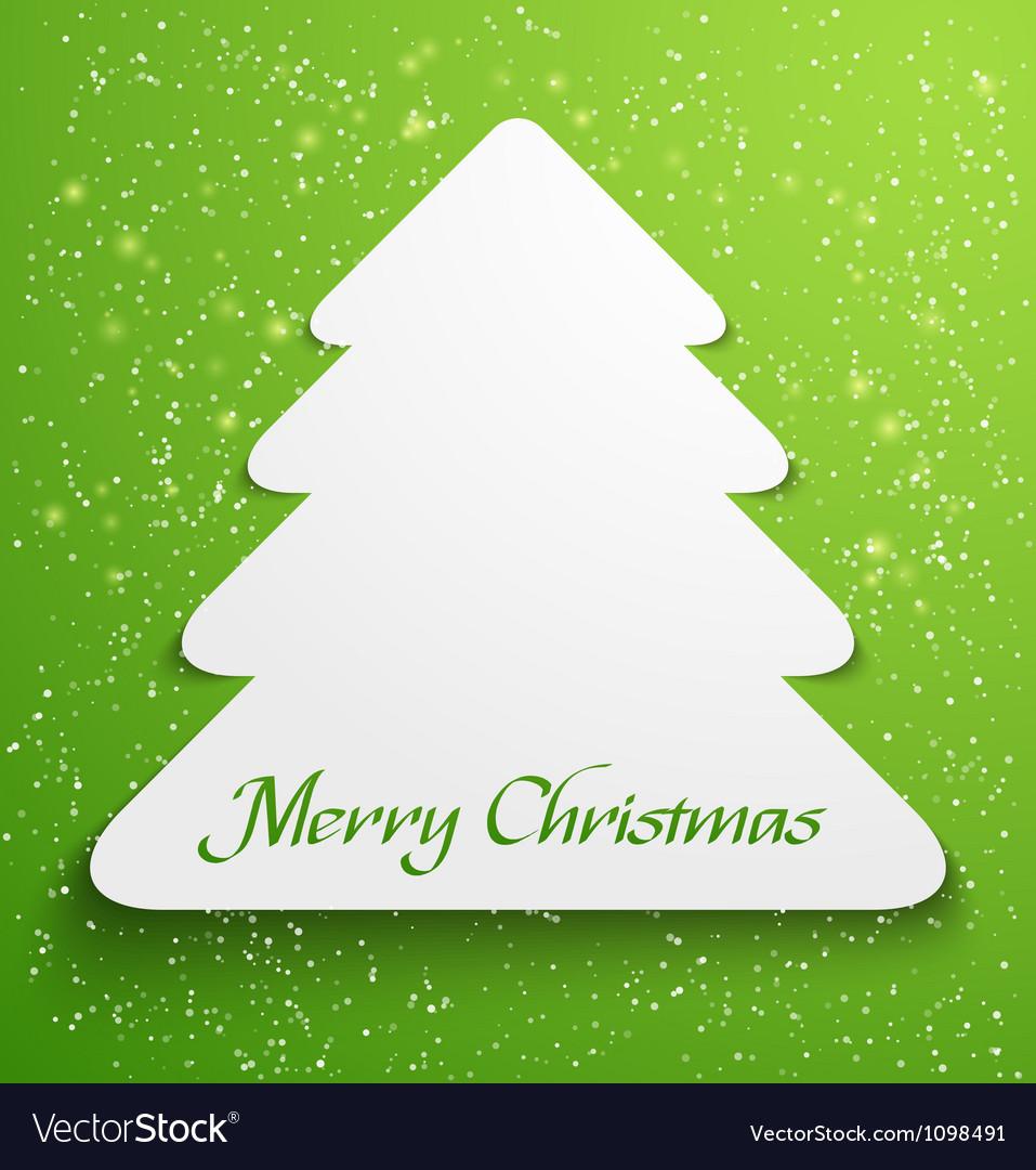 Green christmas tree applique vector image