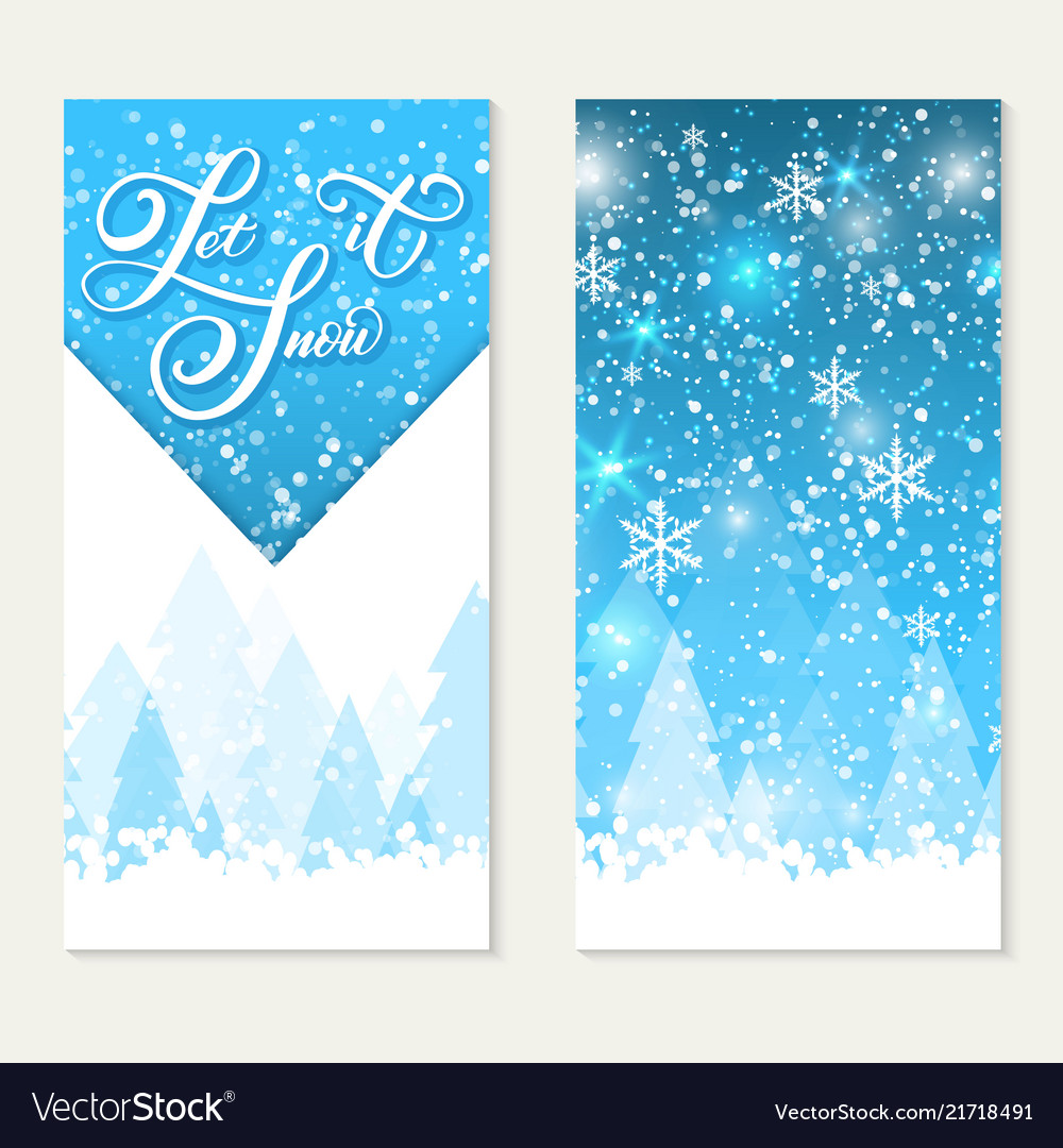 Happy winter holidays gift card let it snow