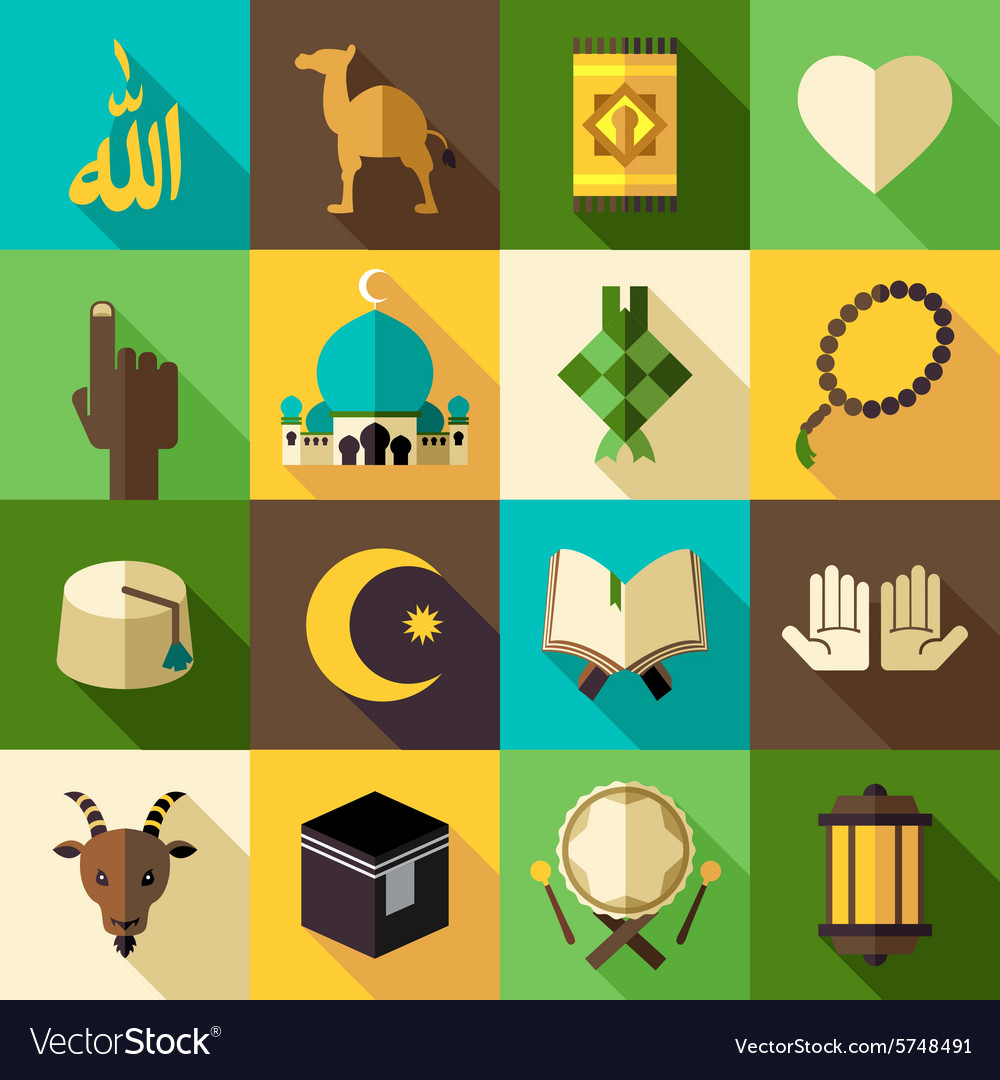 islam flat modern icon royalty free vector image vectorstock