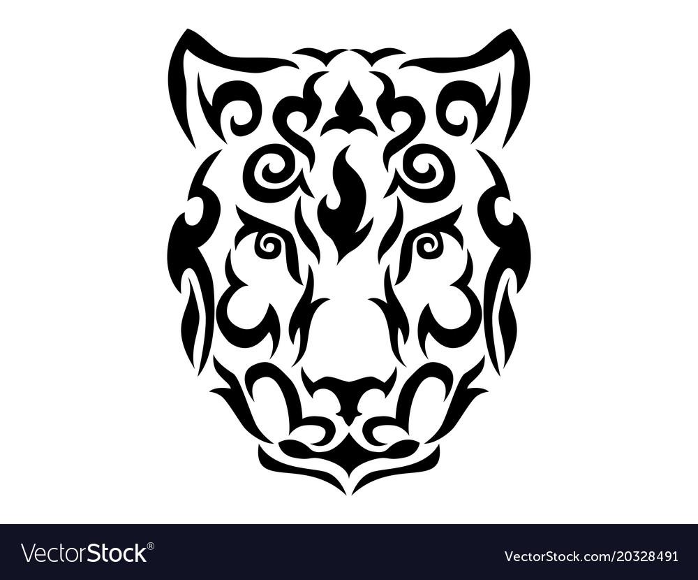 4a20dad30 Tribal snow leopard Royalty Free Vector Image - VectorStock
