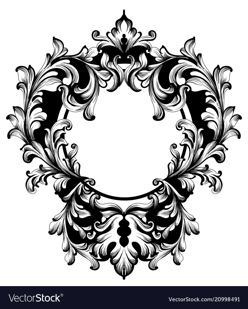 Vintage frame classic rich ornamented