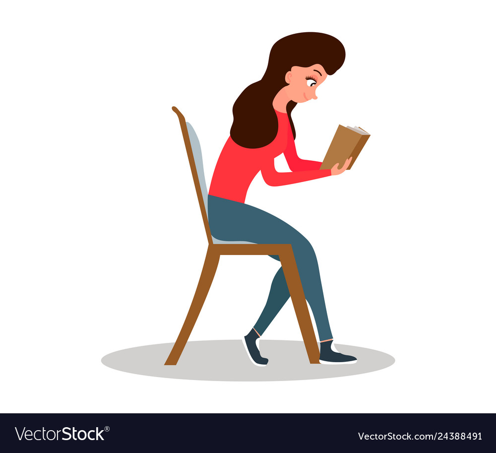 Awesome Young Woman Sitting In Rocking Chair Girl Leisure Pdpeps Interior Chair Design Pdpepsorg