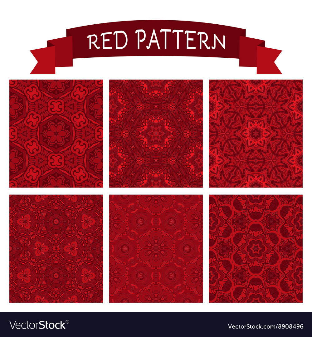 Abstract red christmas background set