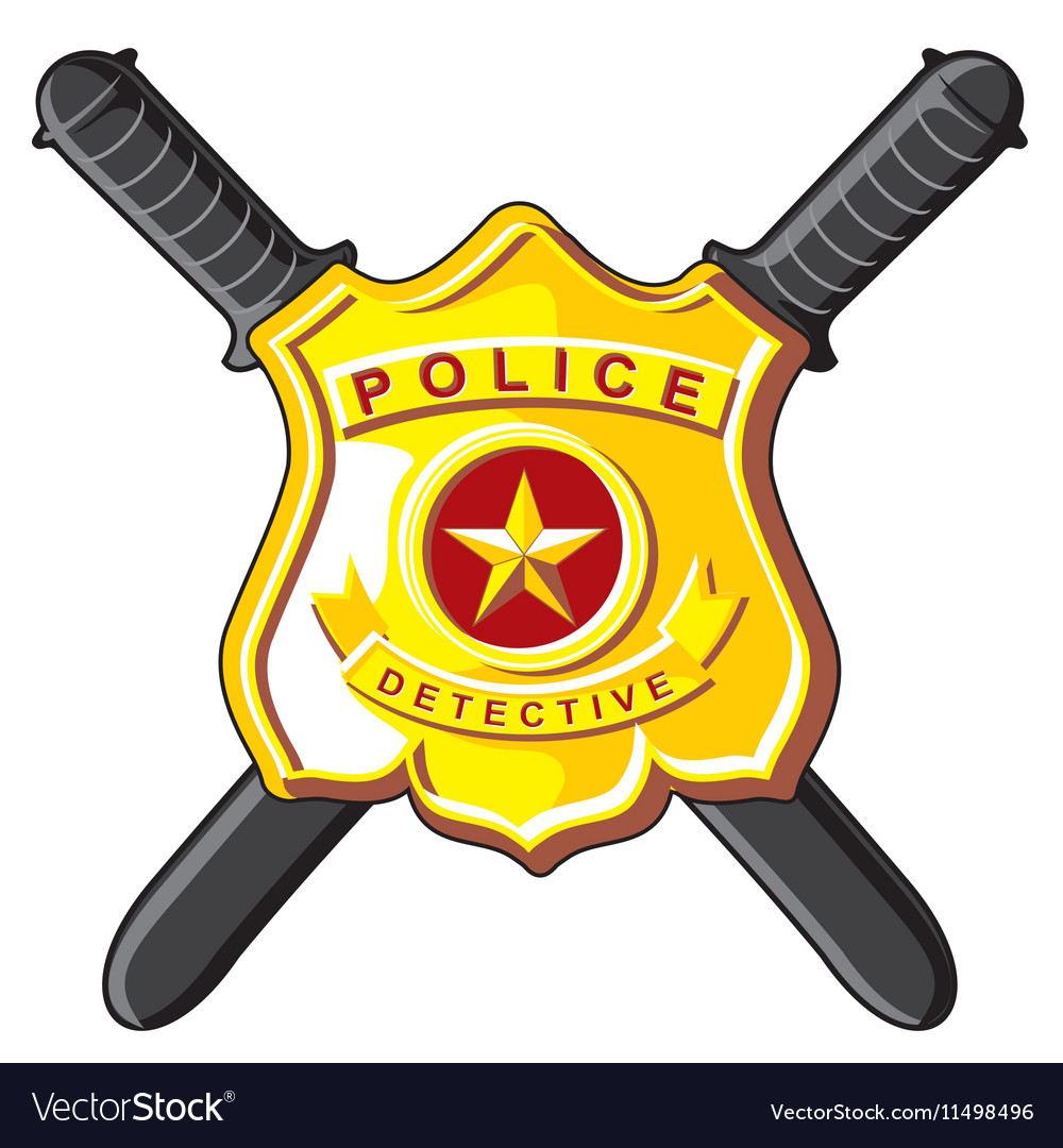 Badge And Batons Police Royalty Free Vector Image