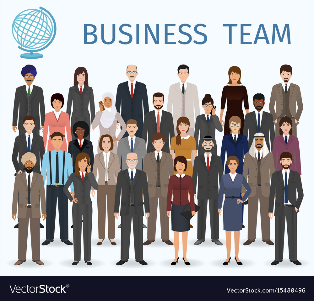 Business team group of detailed office employee