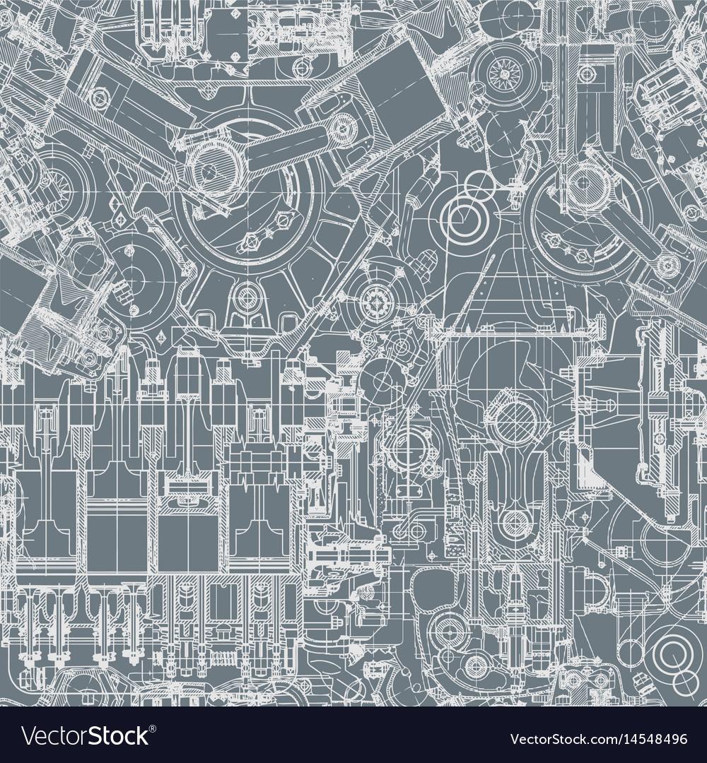 Drawing engine seamless pattern background