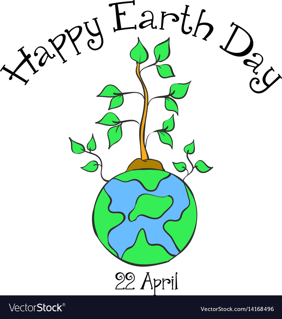 Earth day with world and tree style royalty free vector earth day with world and tree style vector image ccuart