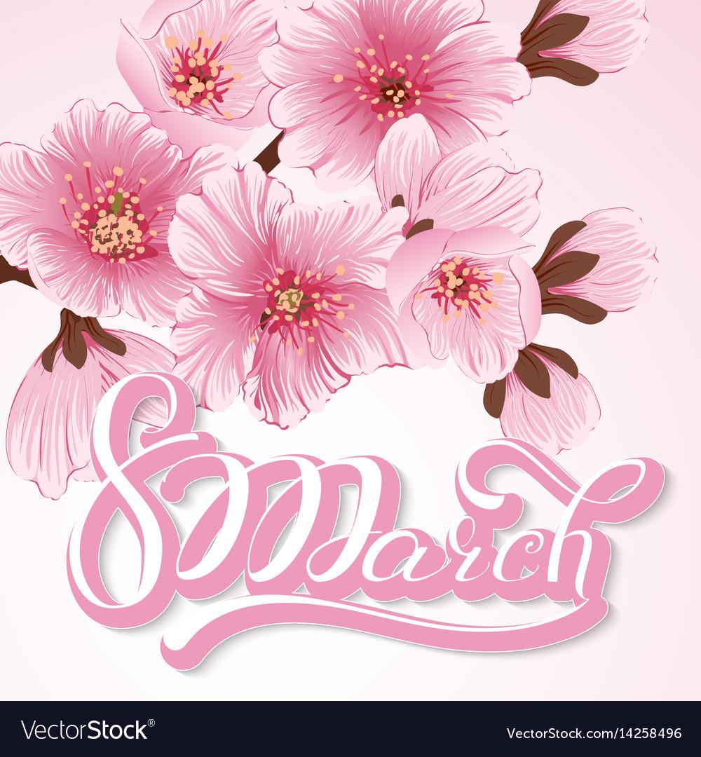 Elegant greeting card 8 march