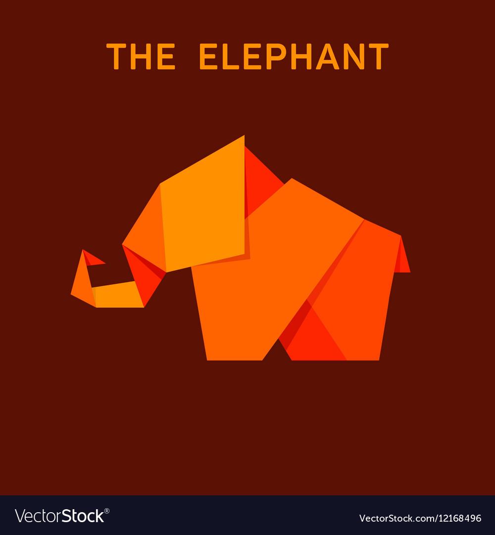 Elephant flat style design animals