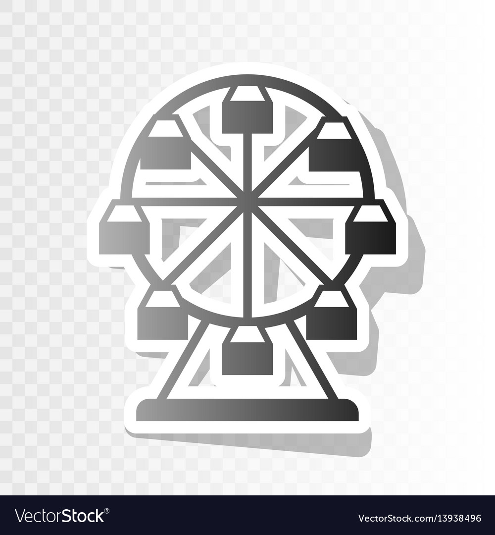 Ferris wheel sign new year blackish icon vector image