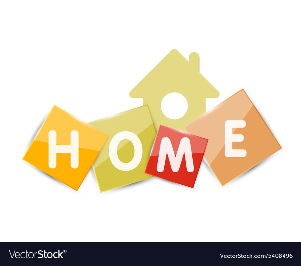 Home geometric banner design