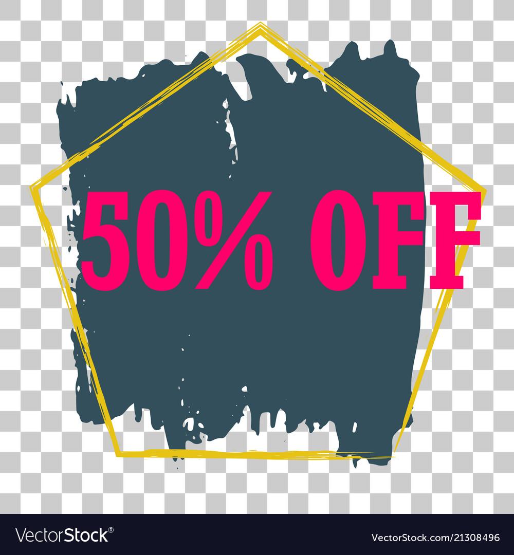 Modern minimalist sales banner