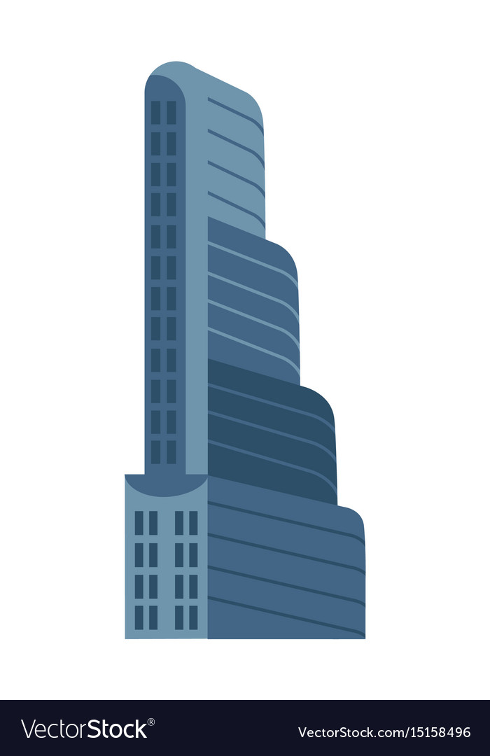 Modern multi storey building isolated icon