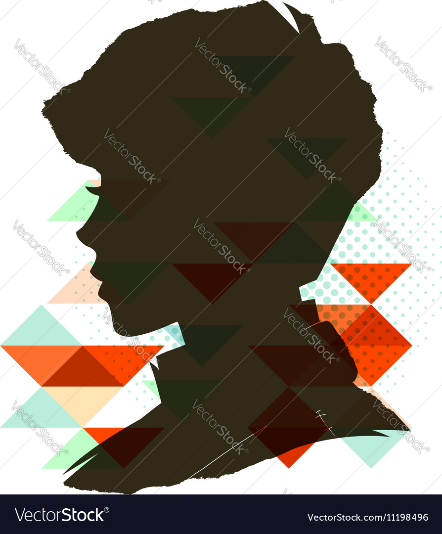 Vintage child silhouette vector image
