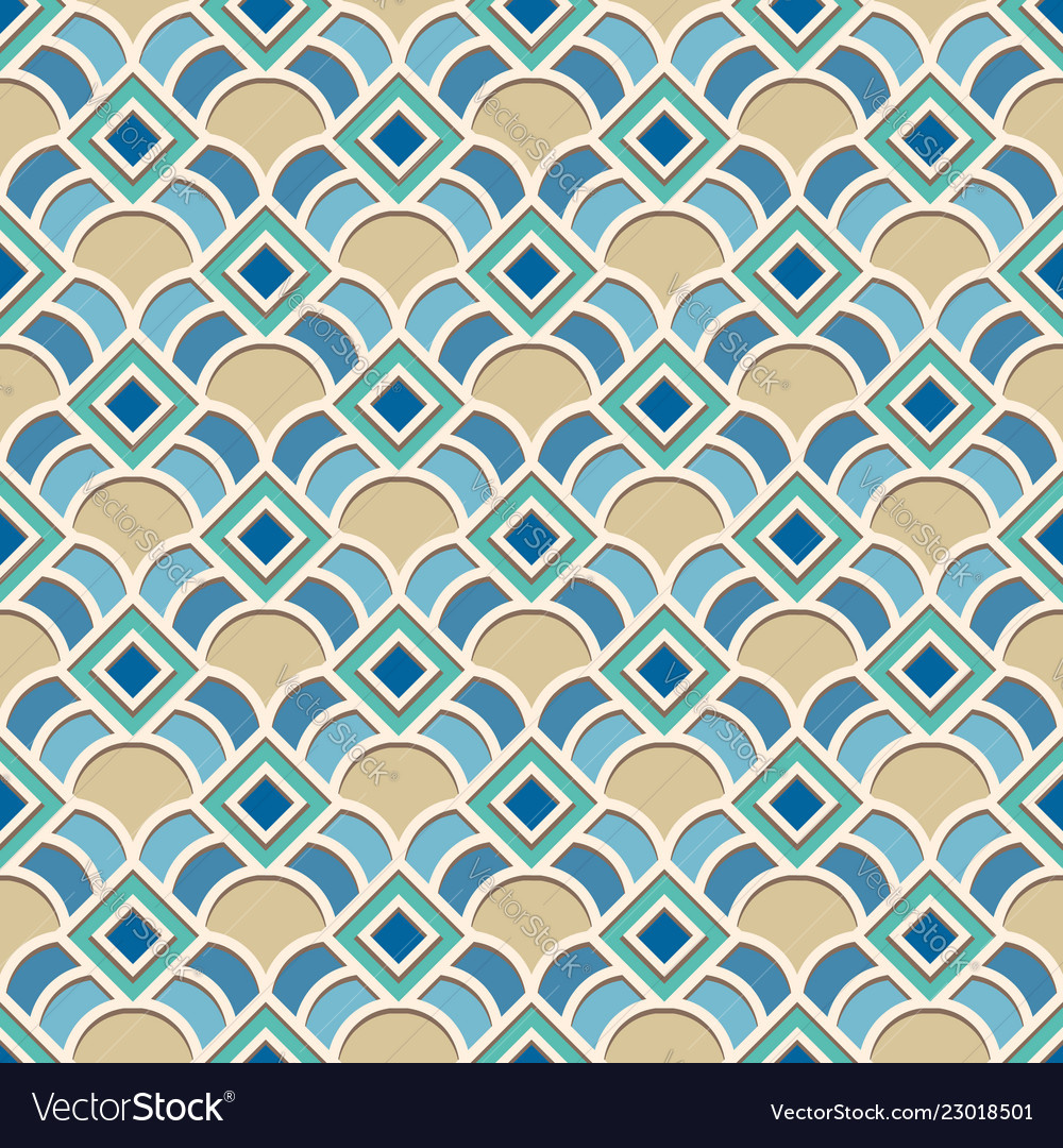 Abstract geometric pattern in arabic style