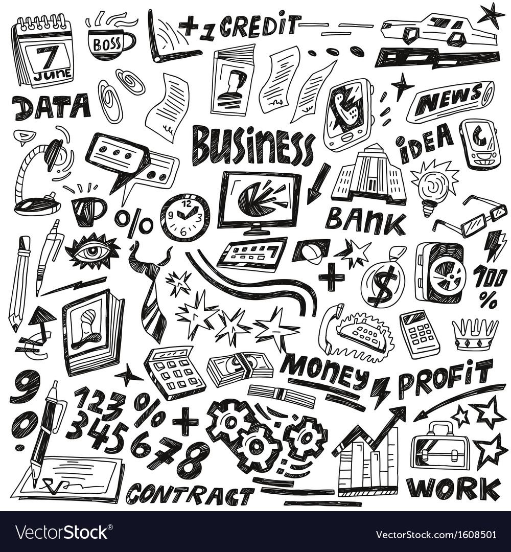 Business - doodles set