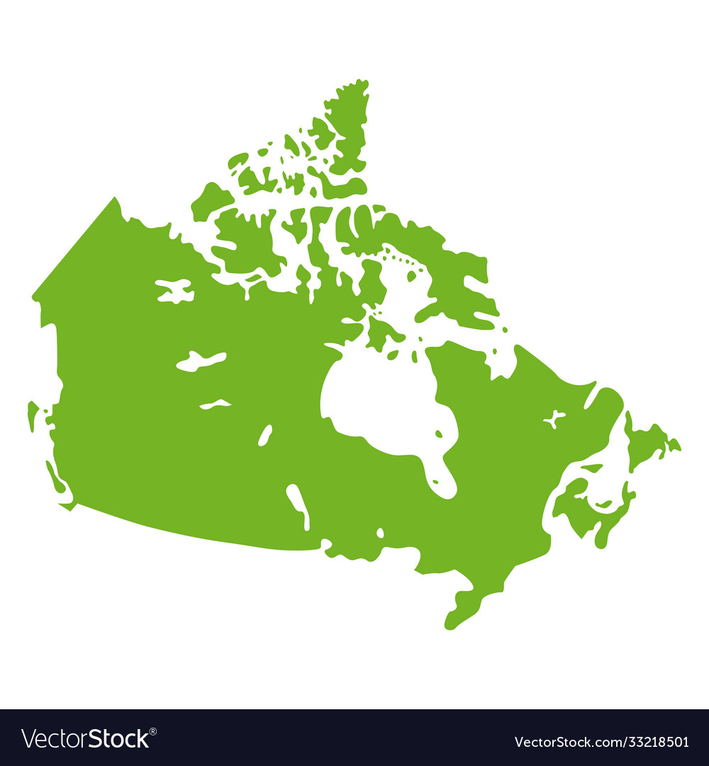 Canada map geographical graphic country border