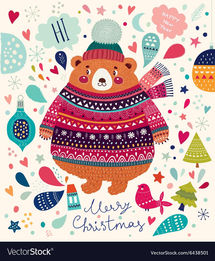 Christmas cute Bear
