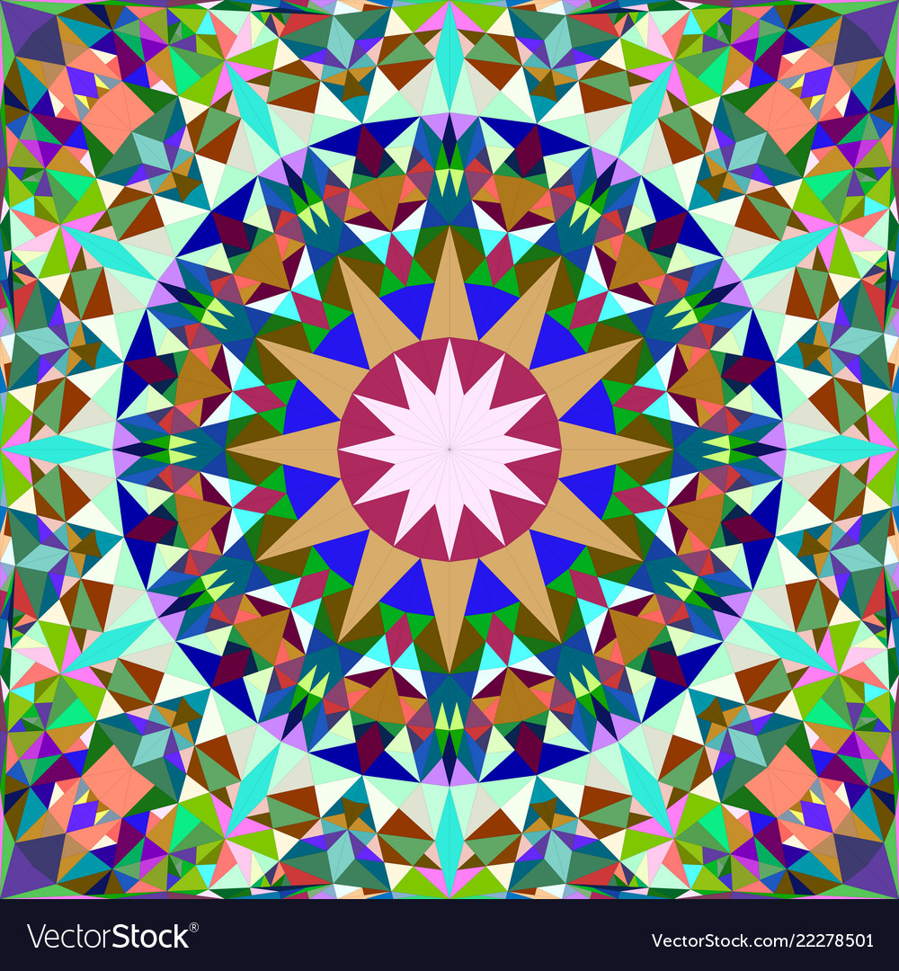 Abstract Triangle Mosaic Tile Vector Image