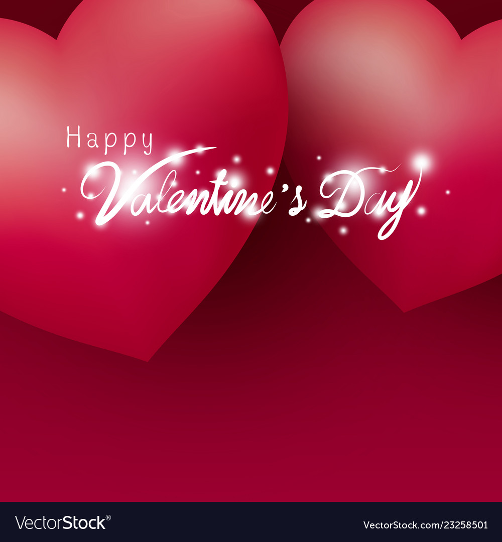 Happy Valentines Day Design Of Hearts Royalty Free Vector