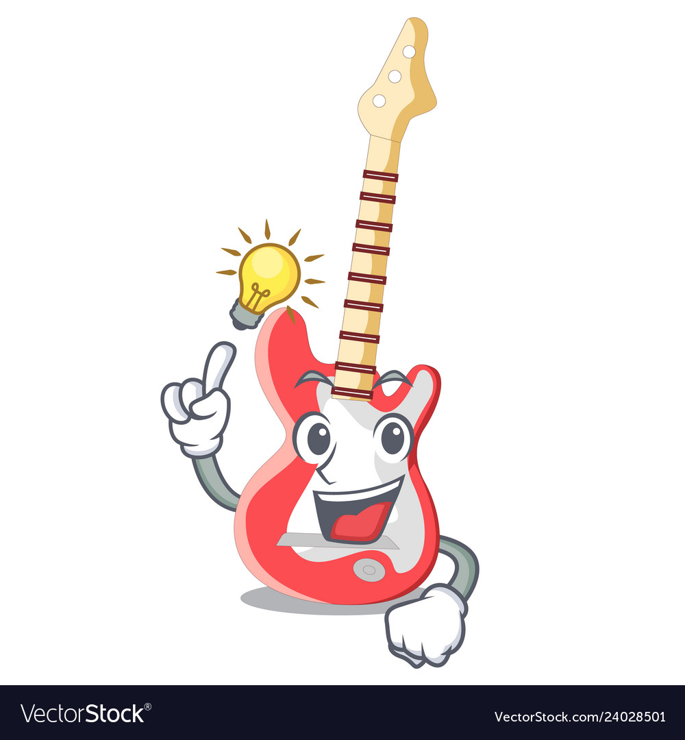 Have an idea electric guitar isolated with the