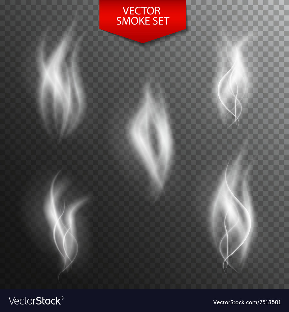 Naturalistic Smoke on Dark Transparent Background