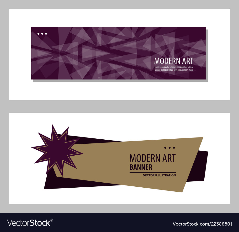 Set of abstract design banner template