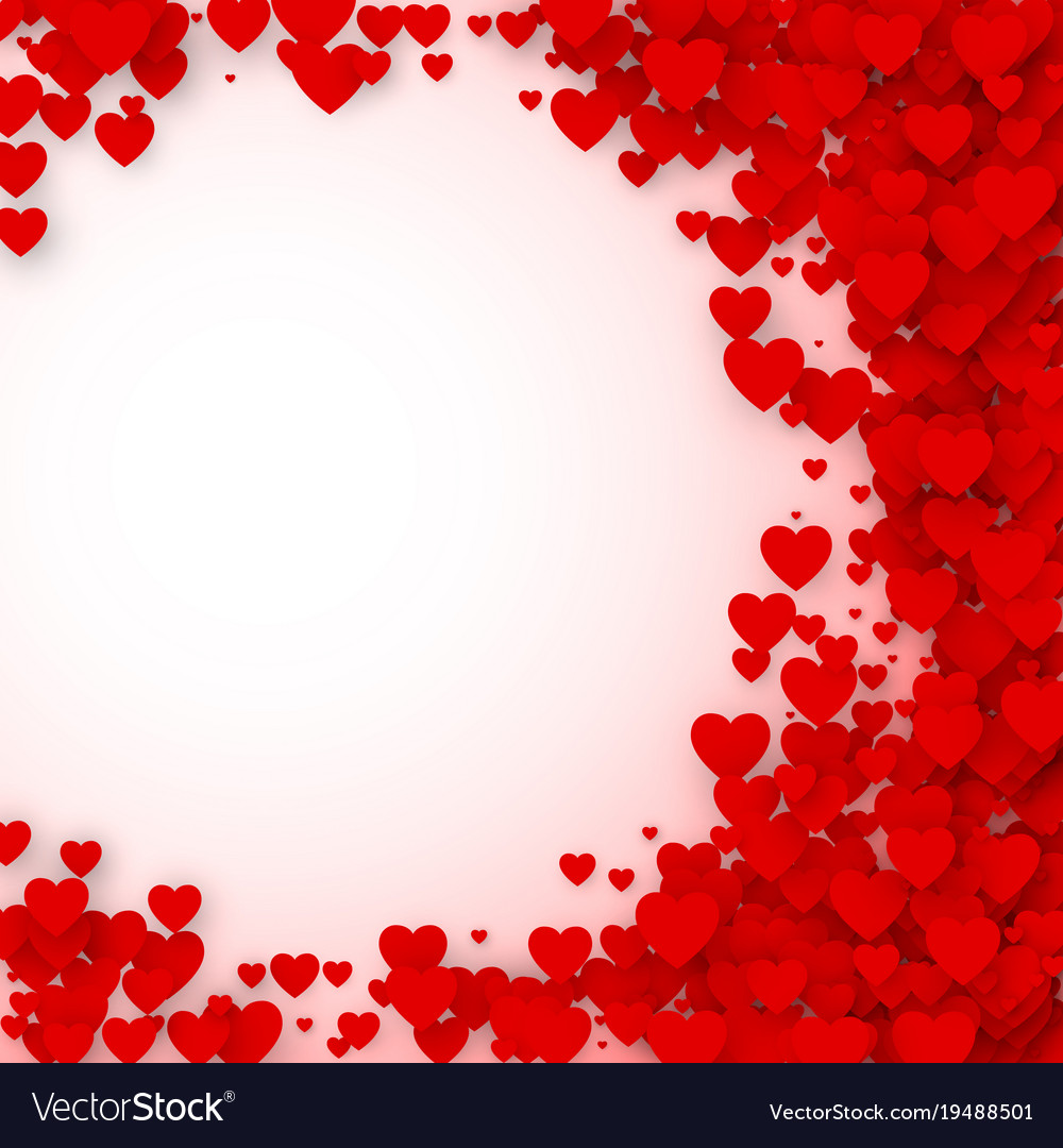 Valentines Day Card Cover Concept Background Vector Image