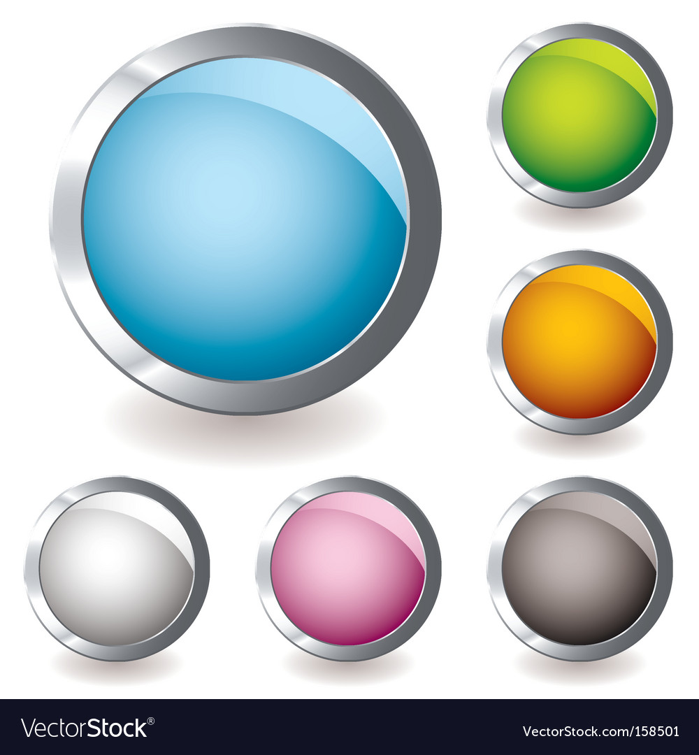 Web icon variation round vector image