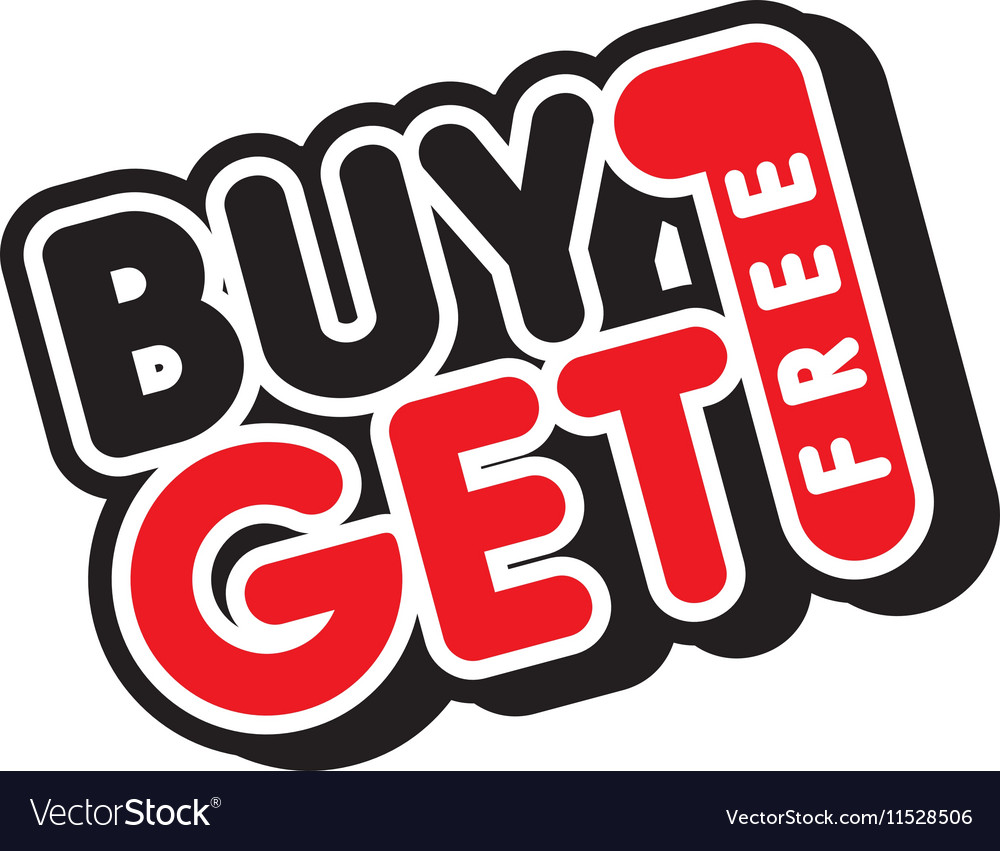 Buy One Get One: Buy One Get Free Sale Promo Royalty Free Vector Image