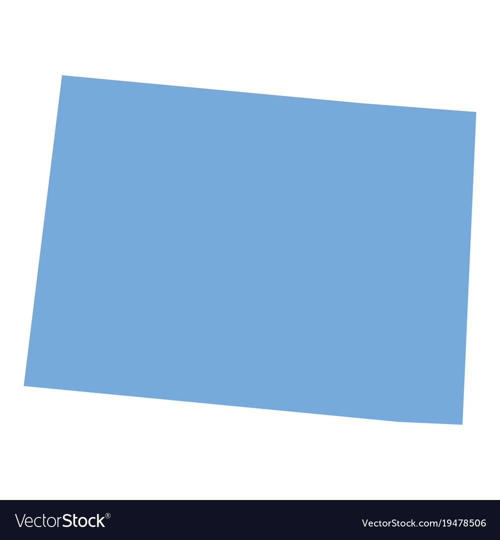 Colorado State Map Royalty Free Vector Image Vectorstock