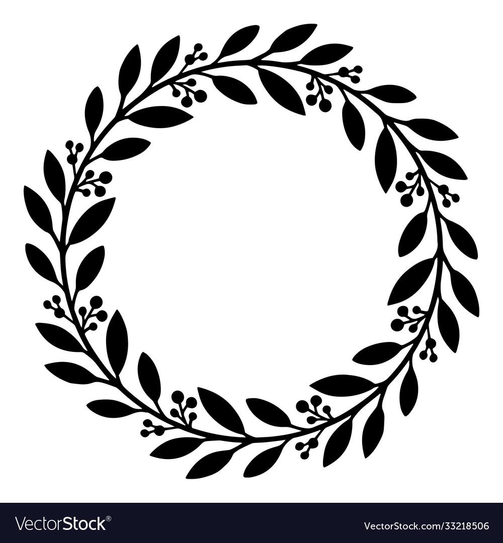 Floral wreath flower wedding frame or decoration