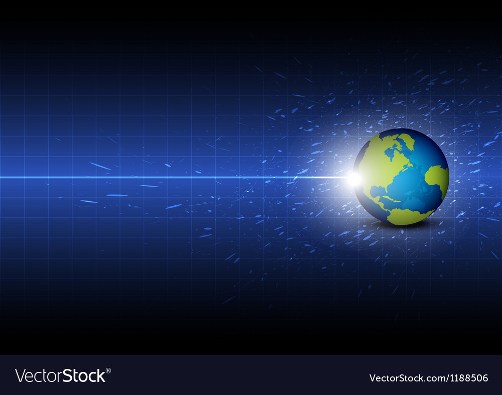 Future digital global technology background vector image