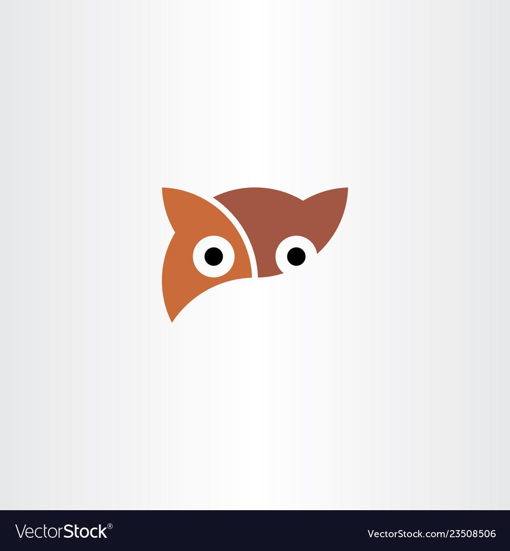 Owl logo symbol element