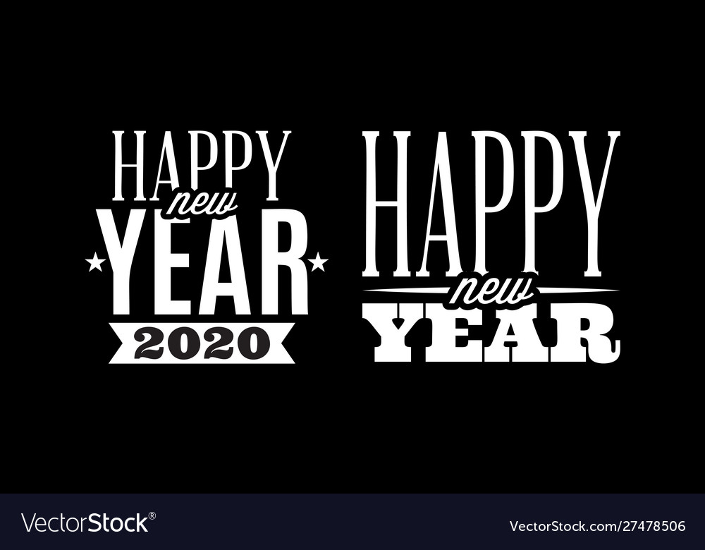 Template with congratulation for new 2020 year