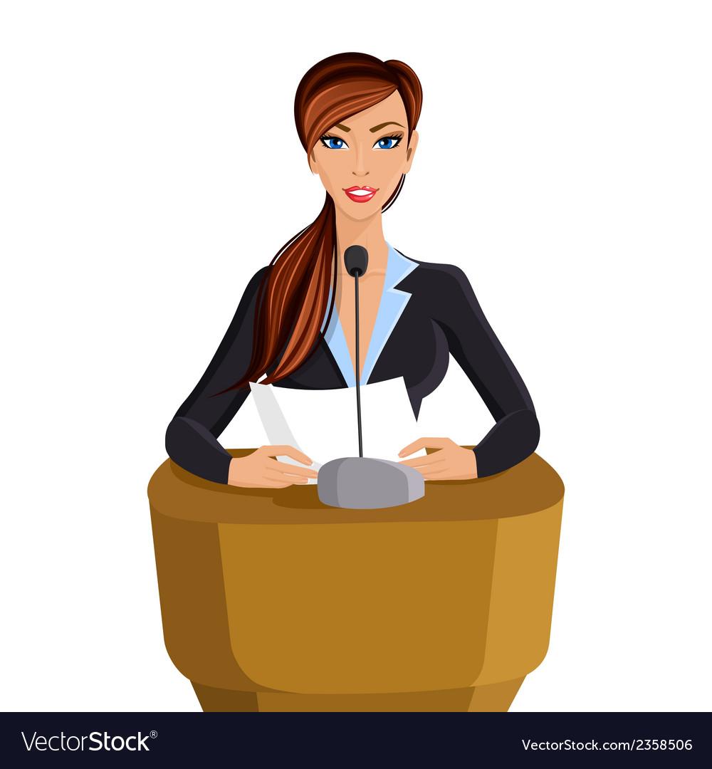 Woman conference portrait