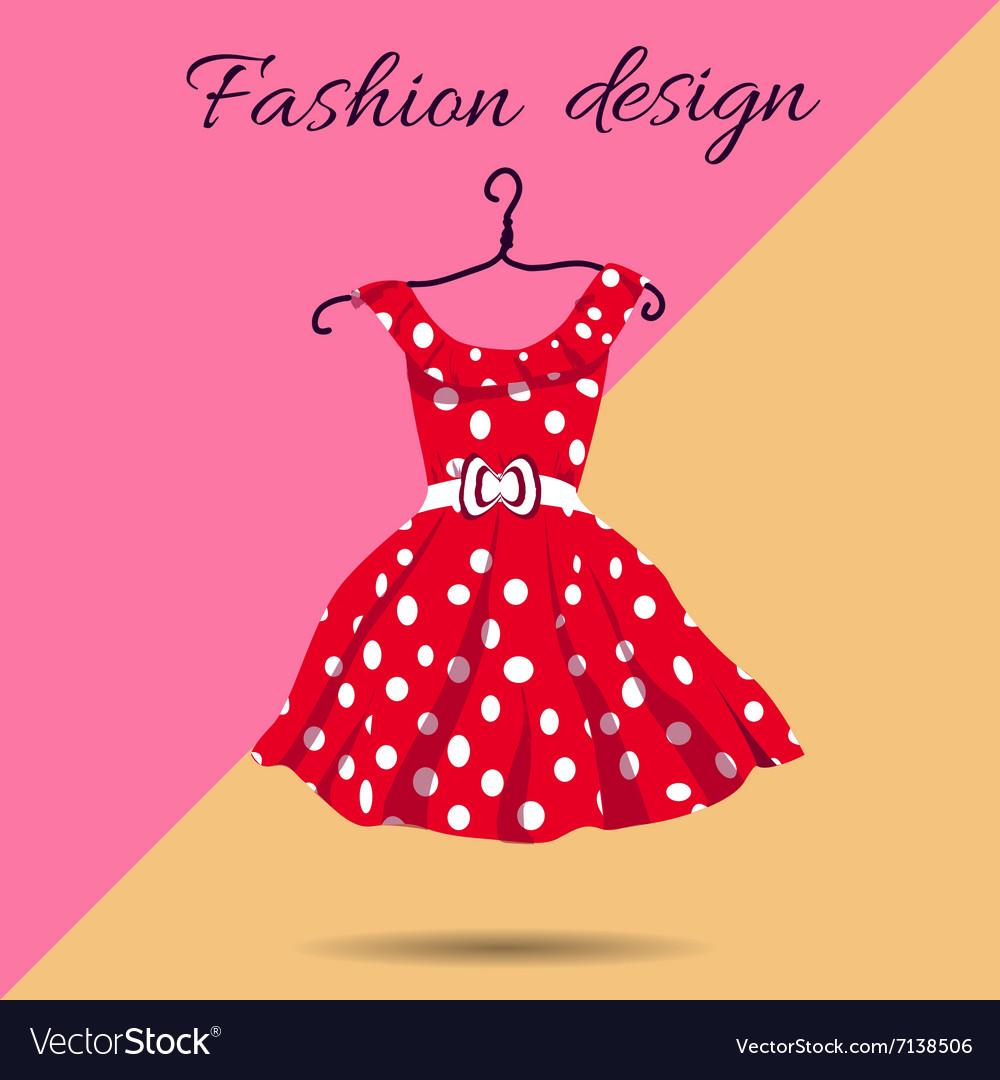 Women dress polka dot with