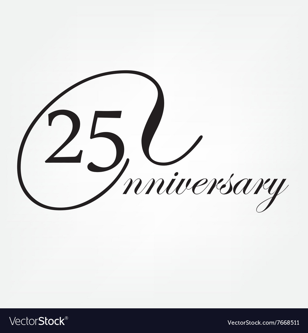 Anniversary celebration emblem