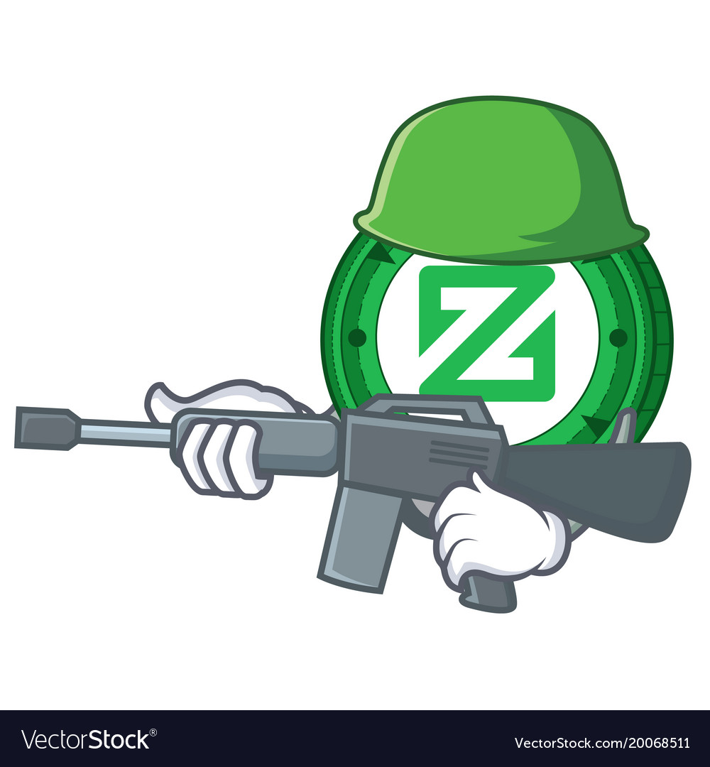 Army zcoin character cartoon style