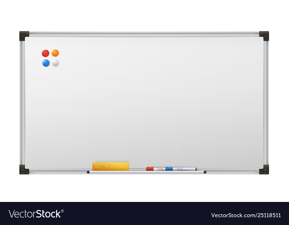 Clean marker board empty white presentation
