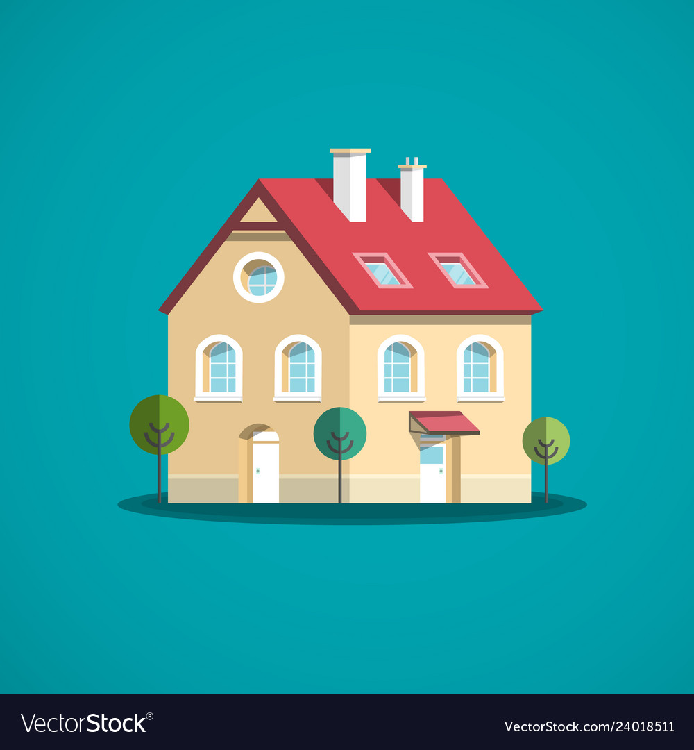 Family house icon building symbol