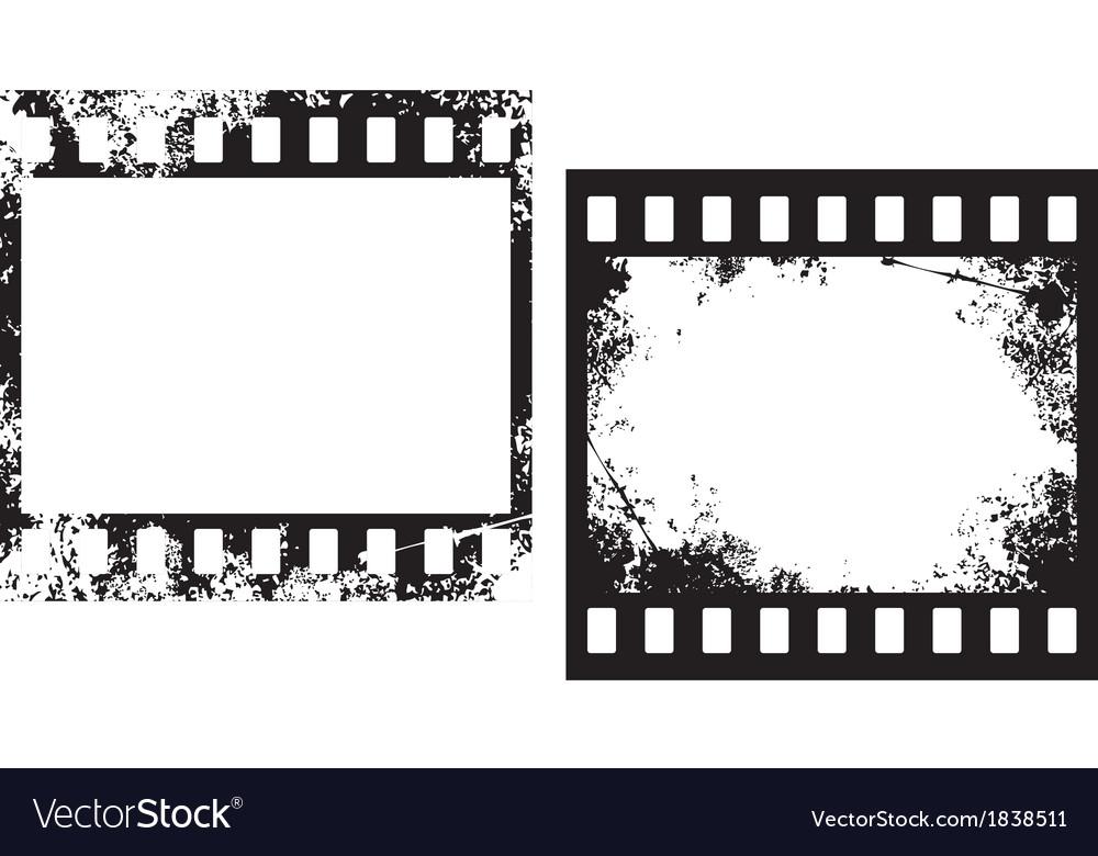 Grunge Camera Vector : Grunge film frames royalty free vector image vectorstock