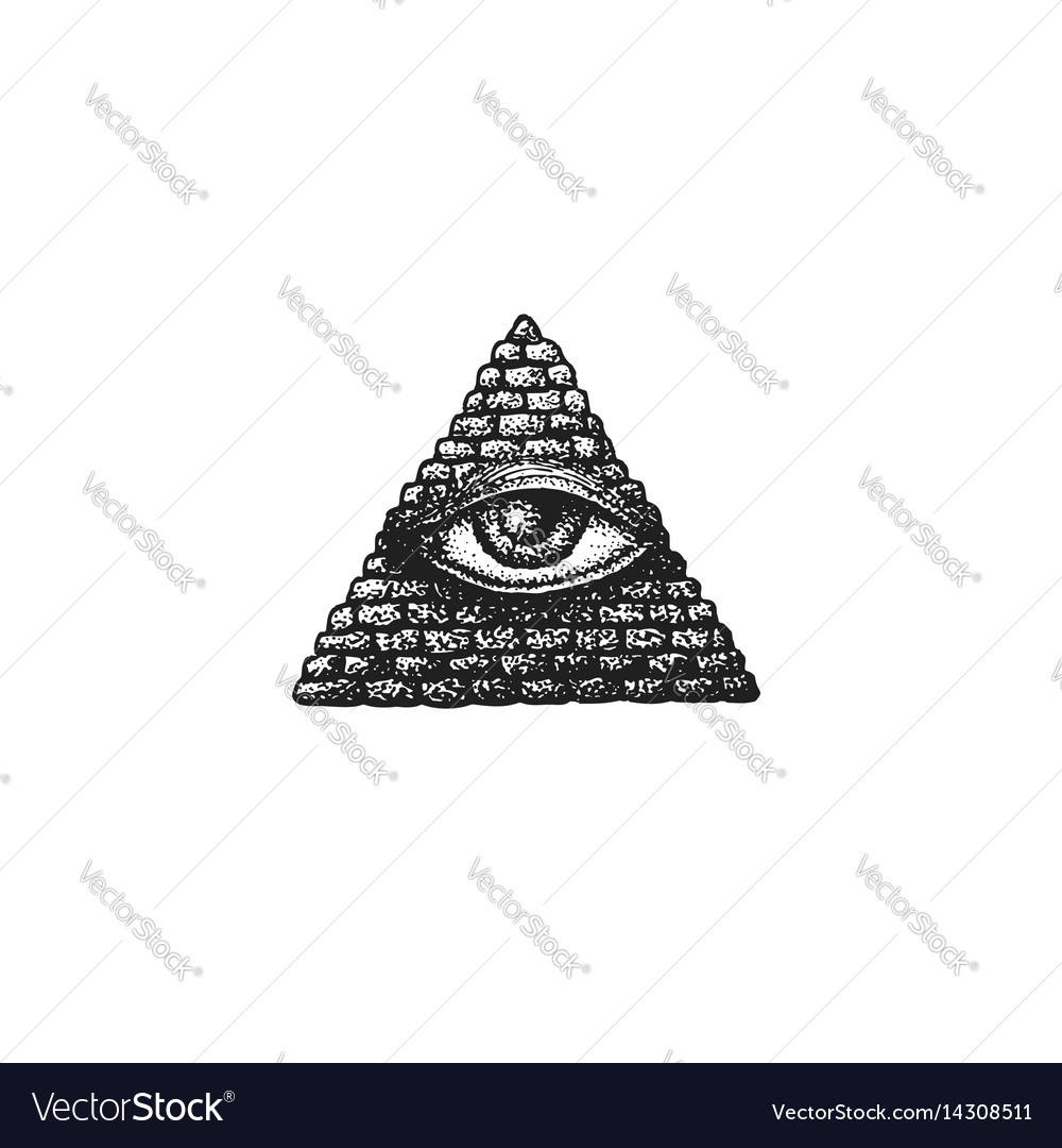 Hand drawn providence eye