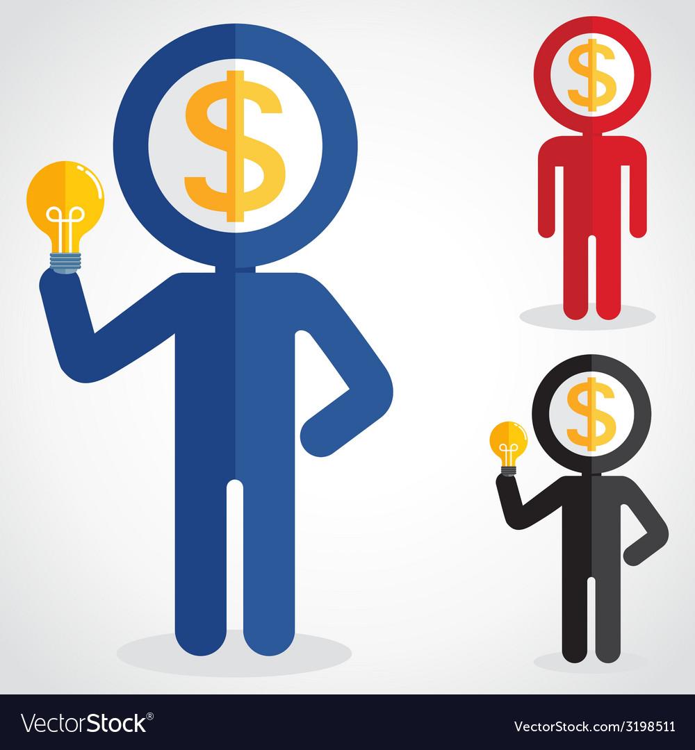 MoneyHead vector image