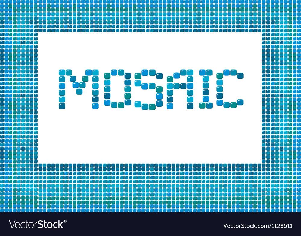 Mosaic frame landscape 2 380 vector image