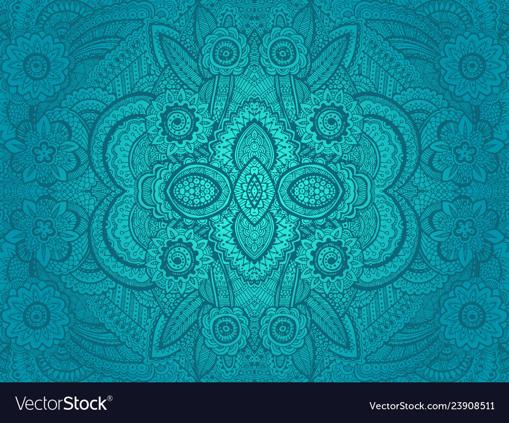Seamless abstract hand drawn pattern with