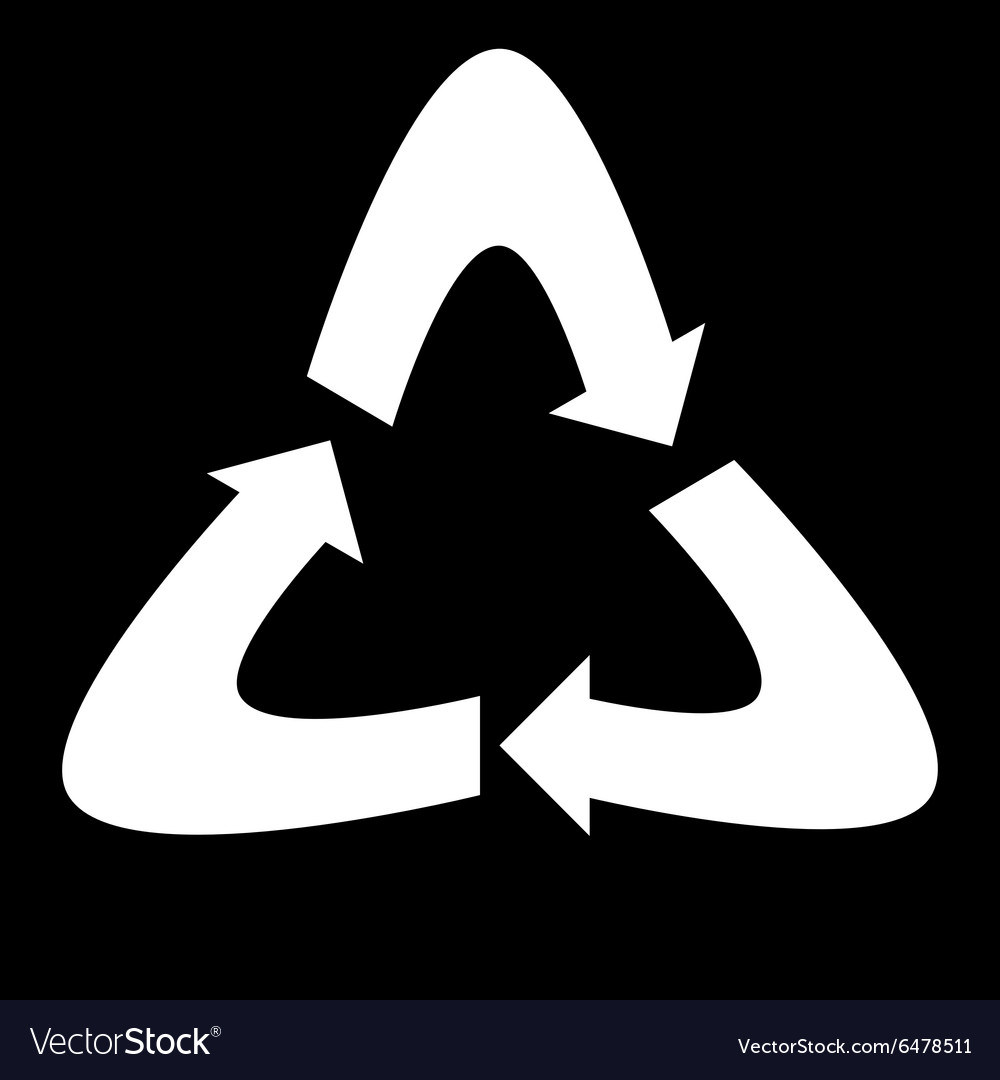 Symbol label recycling vector image